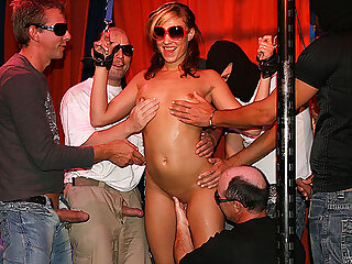 her first german gangbang orgy