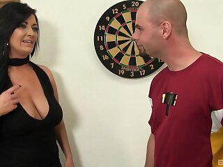 Sexual appreciation with a bosomy mature keen to suck added to swallow
