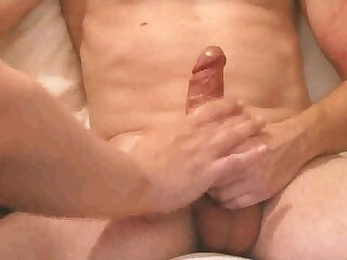 Handjob and prostate massage for French guy