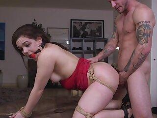 Gagged slave latitudinarian anal fucked respecting bondage XXX maledom scenes