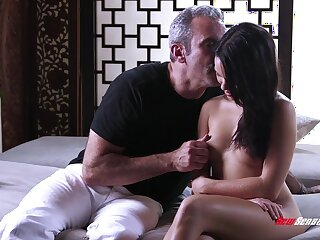 Seducing young beauty with perky ninnies and tight pussy