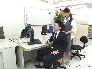 Naughty secretary exotic Japan seduced her boss for a quickie