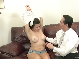Video of an amateur guy fucking his weasel words hungry housewife