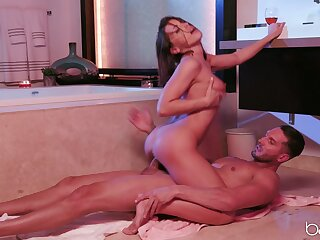 Cum out of reach of pretty characteristic ending for Adriana Chechik after hardcore sex