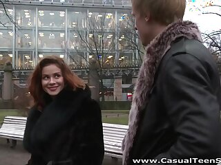 This cute Euro babe substructure really fuck and she loves casual sex