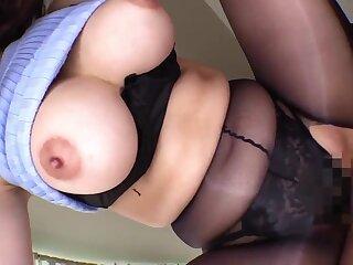 POV Japanese hardcore - MILF with Heavy Asian tits