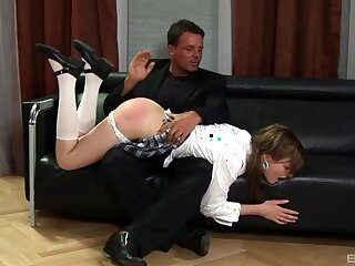 Slave girl Tarra White gets spanked and fucked wide of her dominant hubby