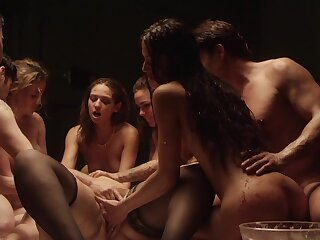 Passionate group intercourse with hot pornstar Karmen Karma with the addition of her friends