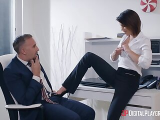 A harmless office flirting leads to some steamy hookup and Adriana loves dick